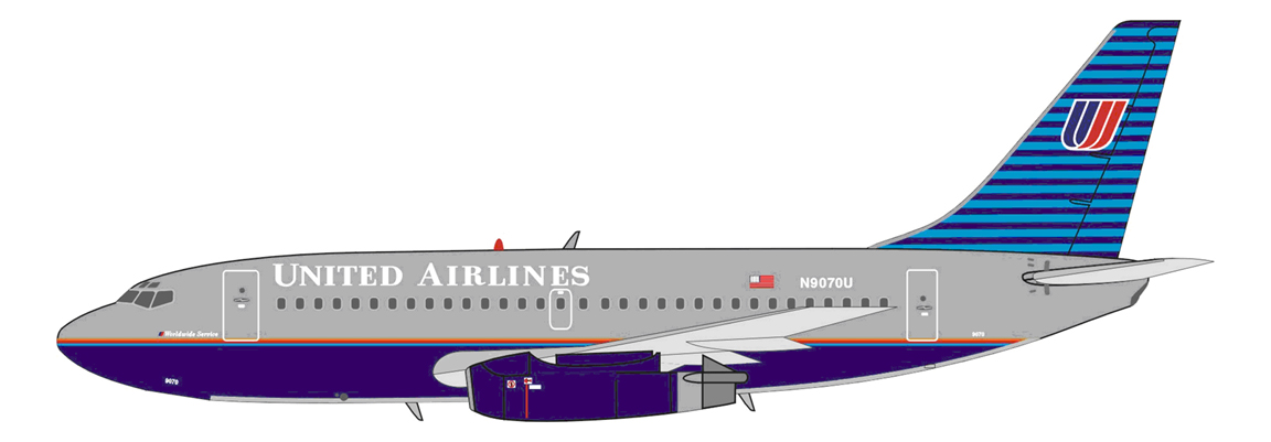 IF7321112 BOEING 737-200 UNITED AIRLINES 1/200