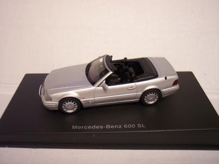 56231 Mercedes-Benz 600 SL Cabiolet Silver (R129) 143 Scale