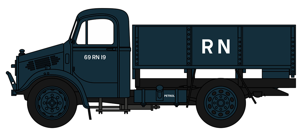 76BD009 BEDFORD OX LORRY TRUCK ROYAL NAVY 176 SCALE
