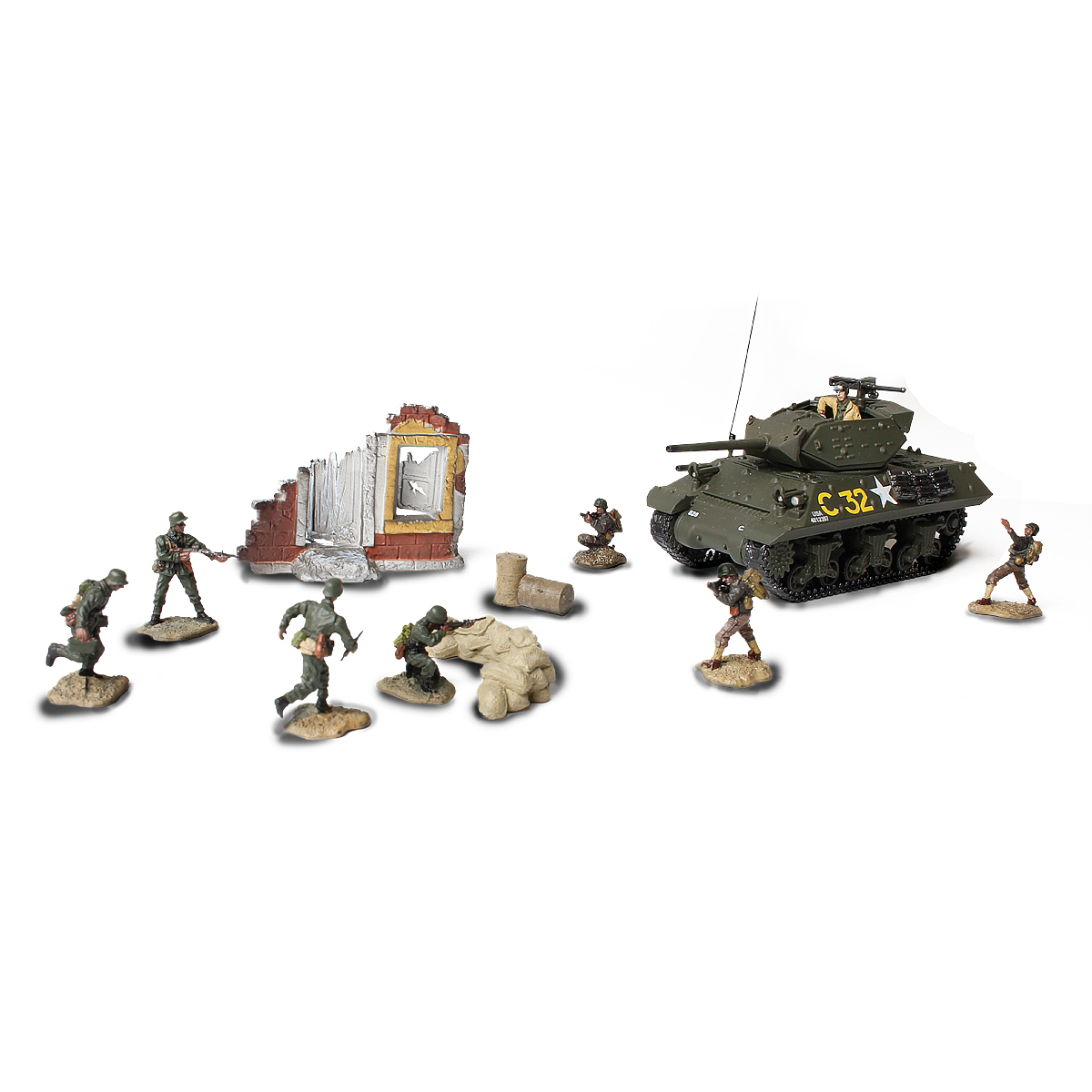 85078 US M10 TANK DESTROYER & SOLDIER SET 172 SCALE