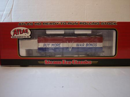 "Atlas 6309 HO HTDH-4 36 Wood Refrigerator Car Swift ""War Bonds"""