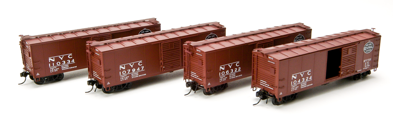 BWL1752 Steel Box Car, 4-pack: #121134, #121656, 122724, #1232