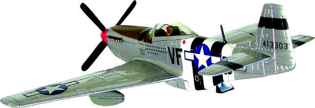AA32228 North American Aviation P-51D Mustang 172 SCALE