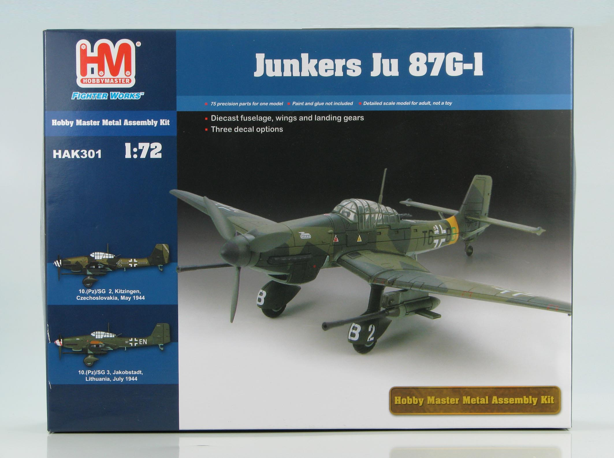HAK301 Junkers Ju 7G-1 Metal Kit 172 Scale