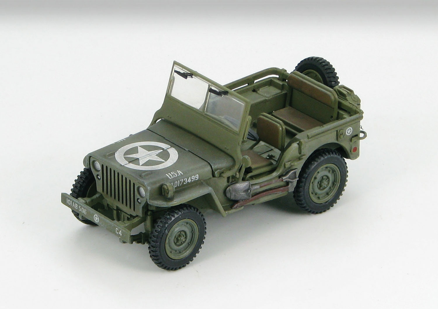 HG1601 Willys MB Jeep 101st Airborne Div 1944 148 Scale