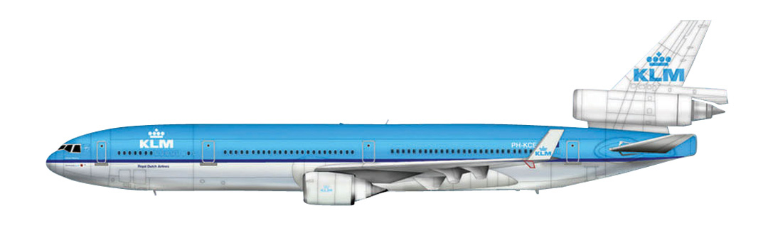 HL1203 MC DONNELL DOUGLAS MD-11-4 KLM 1/200 SCALE