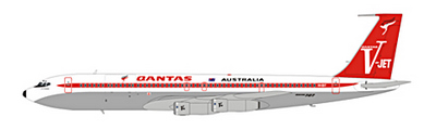 IF7071011BP Qantas V-Jet, B707-300 VH-EBT
