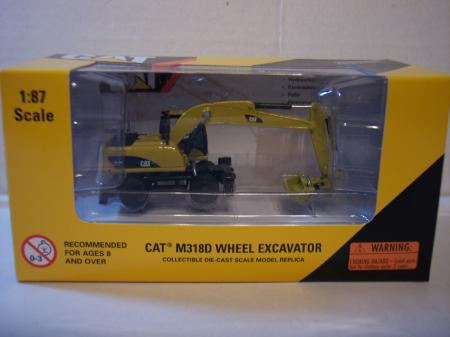 Nor Cat M318D Wheel Excavator 187 Scale