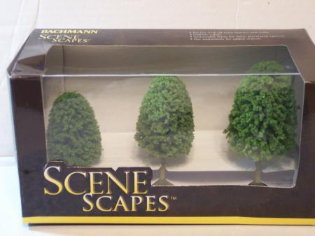 "Bachman Trees 3""-4"" Trees Deciduous HO Scale"