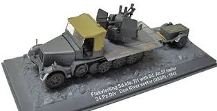 003 ALTAYA FLAKVERLING SD. KFZ 7/1 WITH SD AH 51 TRAILER 24.PZ R