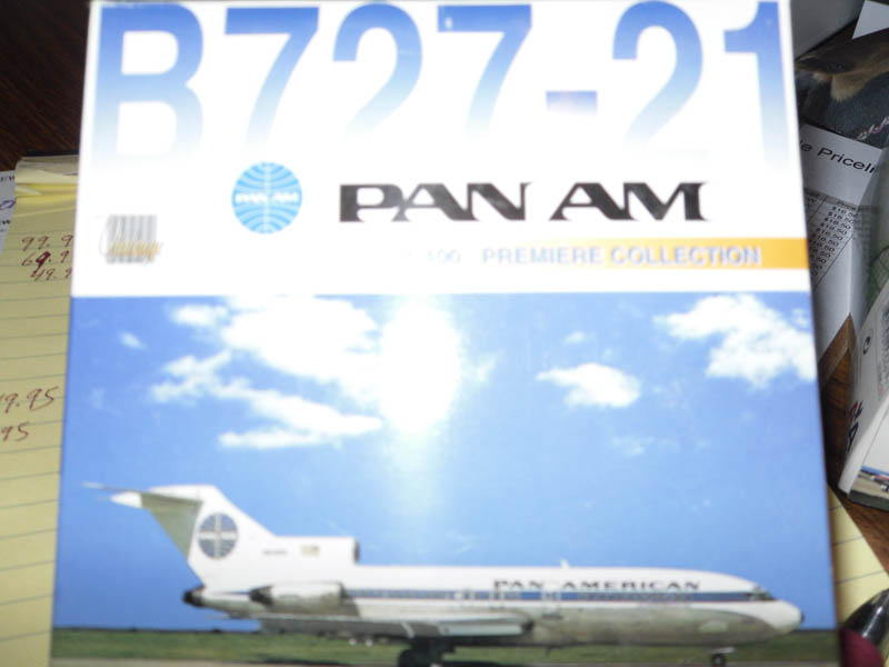 55430 B727-21 Pan Am Premiere Collection 1/400 Scale