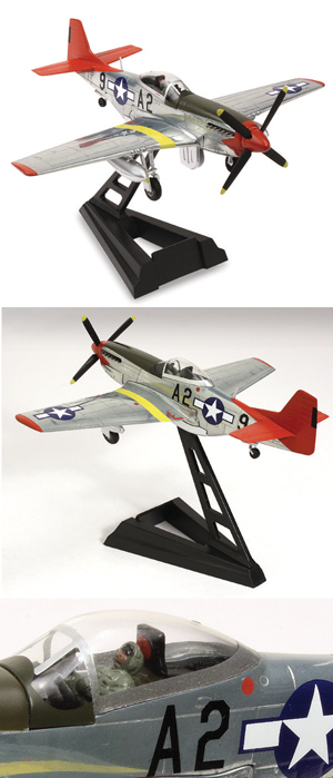 WTW-72-004-023 P-51D Mustang Red Tail Polished 172 Scale